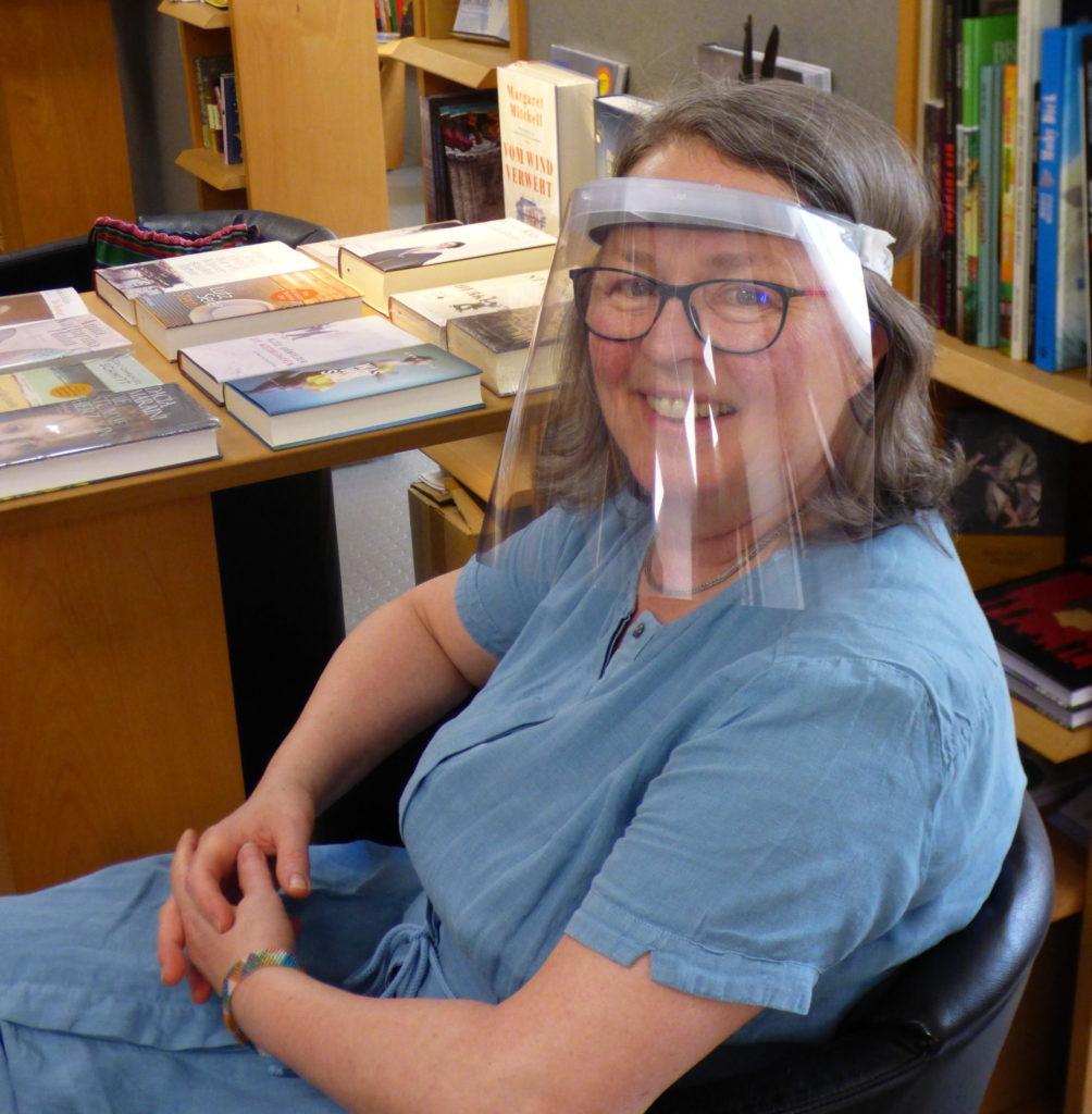 Ulrike Schmidt-Huber enjoys being back in her bookstore